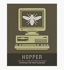 Science Posters - Grace Hopper - Computer Scientist Photographic Print