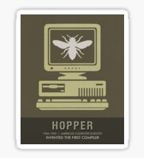 Science Posters - Grace Hopper - Computer Scientist Sticker