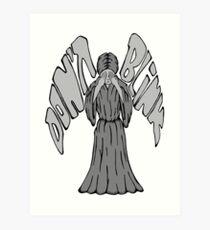 Don't Blink Weeping Angel Art Print
