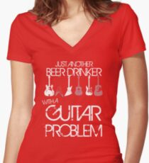 Guitar Problem Women's Fitted V-Neck T-Shirt