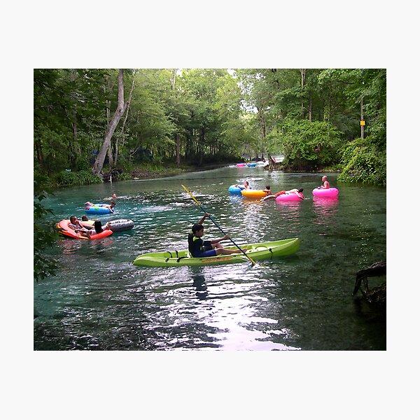 Kayaking on Ginnie Spring, Florida Photographic Print