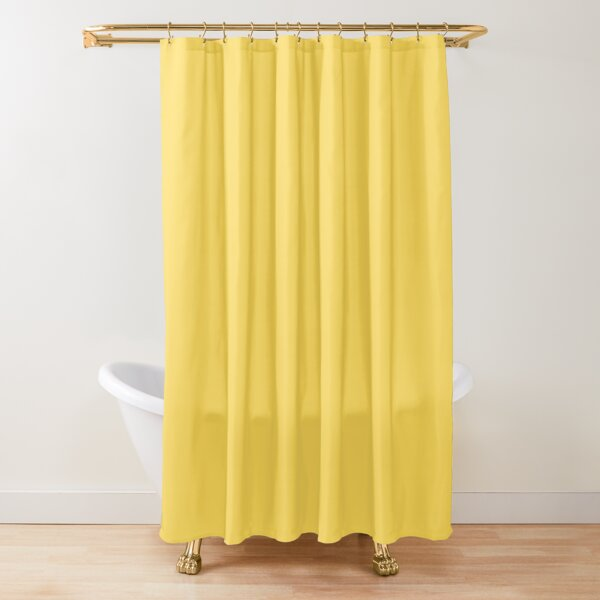 mustard yellow solid color shower curtain by rewstudio redbubble