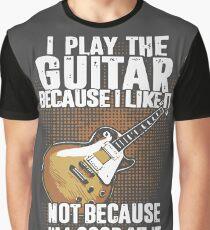 Guitar T Shirts Guitarist T Shirts Graphic T-Shirt