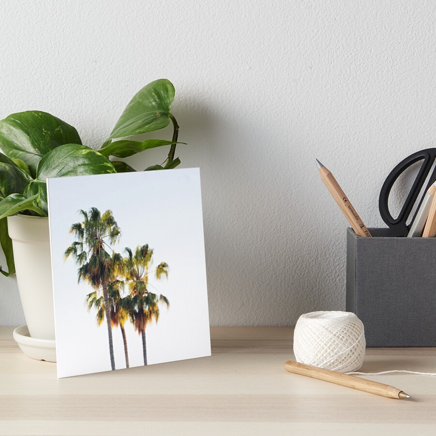 Palm Trees Art Board Print