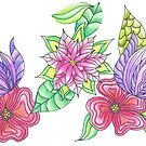 Purple and Pink Flowers by CarolineLembke