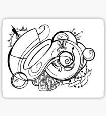 Curiouser Hat Trick Sticker