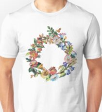 Wedding Wreath After Old Embroidery Pattern Unisex T-Shirt