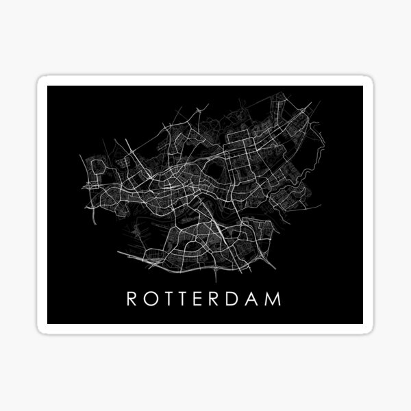 Rotterdam Straßenkarte Sticker