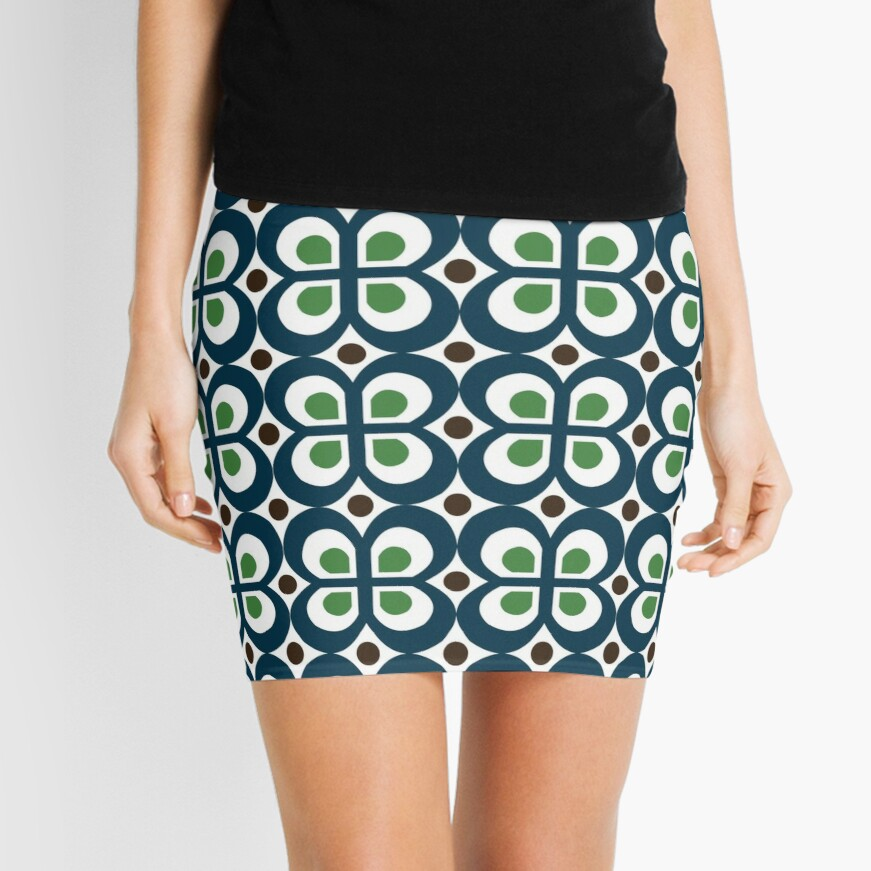 Retro 60s Pattern Mini Skirt