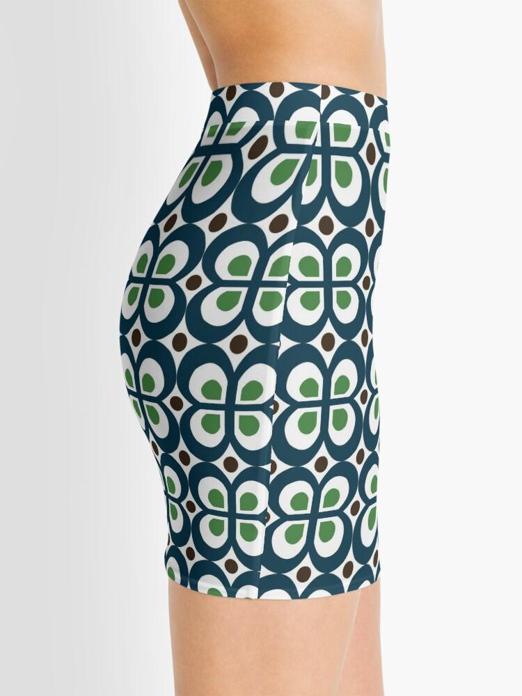 Alternate view of Retro 60s Pattern Mini Skirt