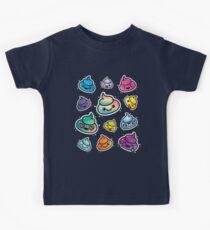 Cute Poop Emoji: Girls & Boys Rainbow Emoji Faces Kids T-Shirt