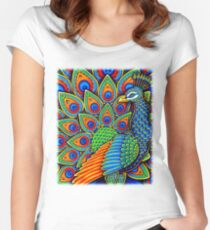 Paisley Peacock Women's Fitted Scoop T-Shirt