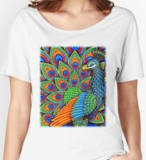 Paisley Peacock Women's Relaxed Fit T-Shirt