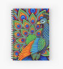 Colorful Paisley Peacock Bird Spiral Notebook