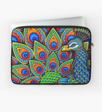 Colorful Paisley Peacock Bird Laptop Sleeve