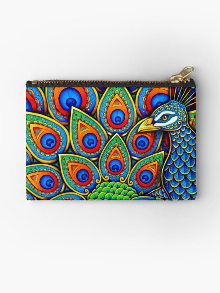 Colorful Paisley Peacock Bird by Rebecca Wang