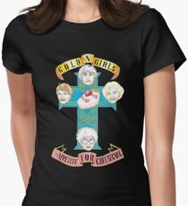 "Gold N Girls ""Appetite for Cheesecake"" Shirt Women's Fitted T-Shirt"