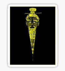 Pai Mei Portrait Typographique (Kill Bill) Sticker