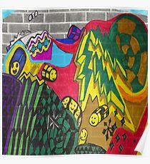 Adventure Time Style Graffiti  Poster
