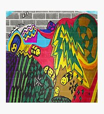 Adventure Time Style Graffiti  Photographic Print