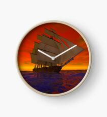 Sailing into the Sunset Clock