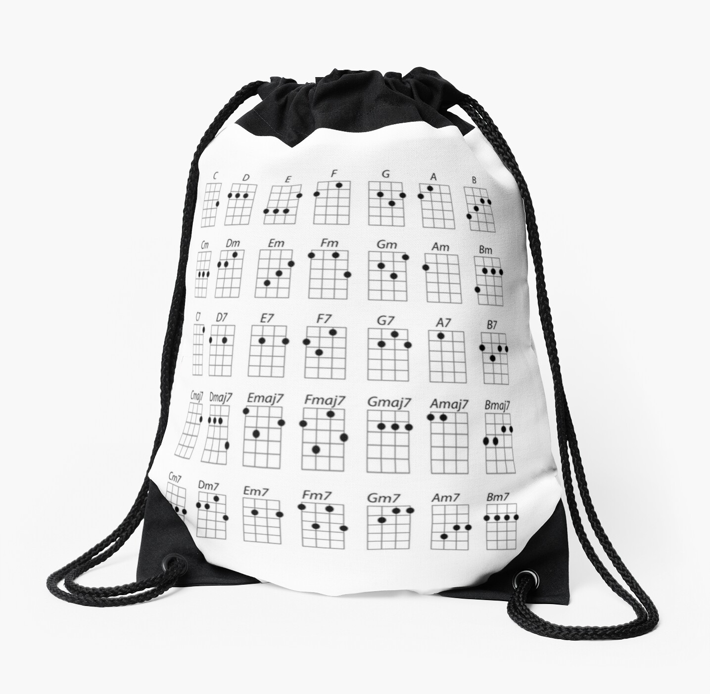 Ukulele chords drawstring bags by forestkat redbubble ukulele chords by forestkat hexwebz Images