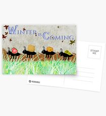 Winter is coming! Postcards