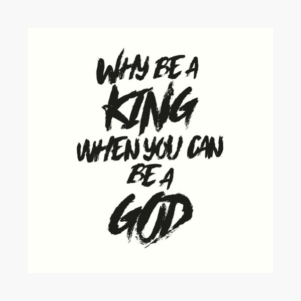 EMINEM - RAP GOD Art Print