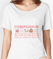 COMPASSION KINDNESS VEGAN Women's Relaxed Fit T-Shirt
