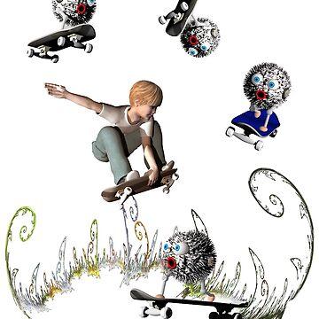 Skateboarding friends by fotokatt