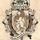 Lion Coat Of Arms Heraldry by Heather Hitchman