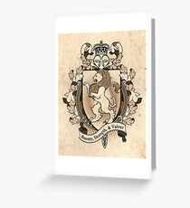 Lion Coat Of Arms Heraldry Greeting Card