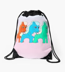 Pony x3 Drawstring Bag