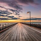 Ryde Pier Sunset by manateevoyager