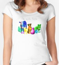 I'm With Them - Animal Rights - Vegan Women's Fitted Scoop T-Shirt