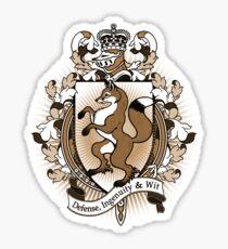 Fox Coat Of Arms Heraldry Sticker