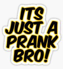 Its Just a Prank Sticker