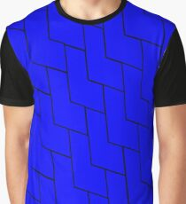 Scale Pattern- Blue Graphic T-Shirt