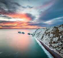 The Needles Sunset by manateevoyager