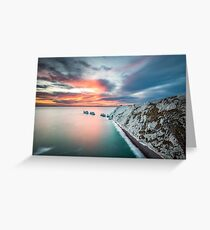 The Needles Sunset Greeting Card