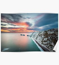 The Needles Sunset Poster