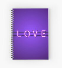 NEON LOVE Spiral Notebook