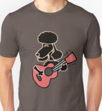 Cool Funny Poodle Dog Playing Guitar Unisex T-Shirt