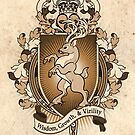 Stag Deer Coat Of Arms Heraldry by Heather Hitchman