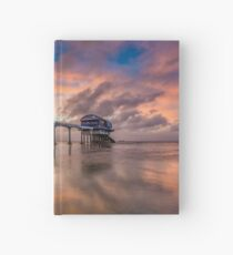 Stormy Lifeboat Station Sunset Hardcover Journal