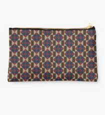 Vintage Quilt-Inspired Union Square Pattern Block Studio Pouch