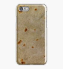 Soft Taco Tortilla texture close-up photo iPhone Case/Skin