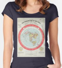 Flat Earth - Gleason's Map Women's Fitted Scoop T-Shirt
