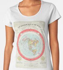 Flat Earth - Gleason's Map Women's Premium T-Shirt