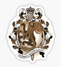 Octopus Coat Of Arms Heraldry Sticker